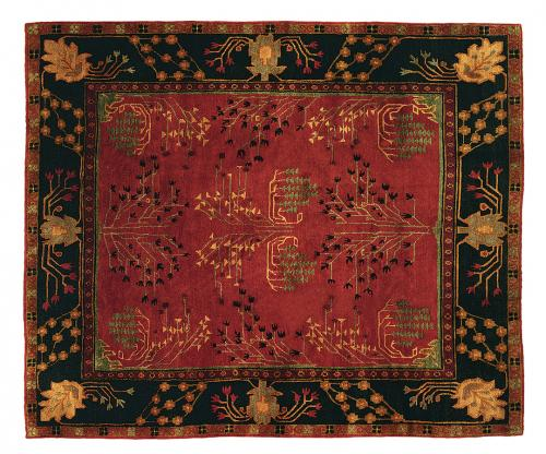 Holly-Peters-Tufenkian-Rugs-3-Donegal-Branches-Ruby Deep-Pine LR (1)